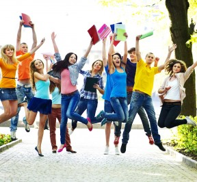 Jumping-students