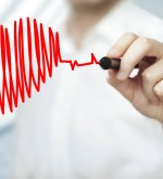 businessman drawing heart and chart heartbeat; Shutterstock ID 120451051; PO: aol; Job: production; Client: drone